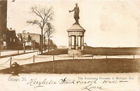 Rosenberg Fountain in Michigan Ave., Chicago, Illinois, Postcard, Used in 1905