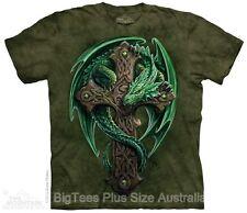 New Woodland Guardian Dragon Big Mens T-Shirt - Label U.S. 4XL (Fits AUST 6XL)