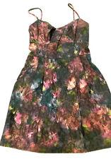 NWT $328. NANETTE Lepore Empire Waist Pleated Satin Cocktail Dress w/Pockets 10