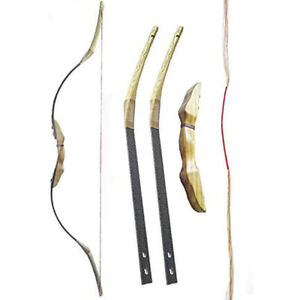 Traditional Recurve Bow 30-50lbs Horse Bow Wooden Takedown RH LH Archery Target