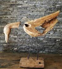 Teak Holz Skulptur Dodo Vogel Laufvogel Holzkunst Statue Deko Holzobjekt Ho.2000