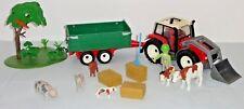 Playmobil - 4496 - Grand tracteur avec remorque + animaux de la ferme