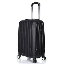 "Hard Shell Luggage Suitcase Lightweight 4 Double Wheels 24"" Medium 3.3kg Black"