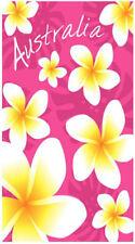 Pink Frangipani Beach   Pool Bath Towel   100% Cotton   Flowers   Australia