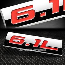 METAL EMBLEM CAR BUMPER TRUNK FENDER DECAL LOGO BADGE CHROME RED 6.1L 6.1 L