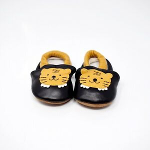NWOTB Shubb Baby Size 3 - 6 Months Black Cat Leather Booties