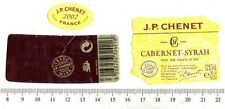 French Wine Label - JP Chenet - Cabernet-Syrah 2002