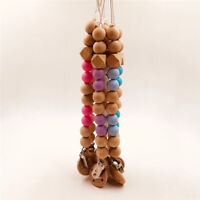 New Baby Wooden Teether Long Clip Holder Teething Beads Strap Chains Toy