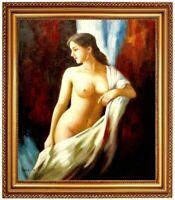 Ölbild erotische nackte Frau, Akte, Nude, Ölgemälde Nude HANDGEMALT 50x60cm