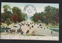 1906 Saline Michigan to Fremont Nebraska Belle Isle Picture Postcard Cover