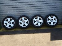 "AUDI TT MK1 8N '03 - SET OF 16"" INCH ALLOY WHEEL WITCH TYRES 205/55/16"