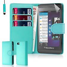 32nd Book Wallet PU Leather Case Blackberry PHONES Screen Protector & Stylus Lightblue Blackberry Z10