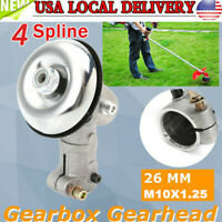 Gearhead Gearbox For 26mm 4 Spline Trimmer Strimmer Brush Cutter Lawnmower US