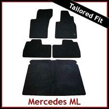 A la medida Alfombra Suelo & Esteras De Arranque Para Mercedes Ml W163 2001-2005 Facelift Negro