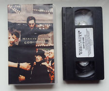 """MARILYN MANSON """"GOD IS IN THE TV"""" ULTRA RARE EUROPEAN VHS / BACKSTAGE FOOTAGE"""