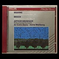 Brahms/Bruch - Grumiaux - Davis/Wallberg - Near Mint CD Philips 420 703-2