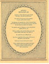 Book of Shadows Spell Pages ** Witch's Protection Bottle Spell ** Wicca BOS