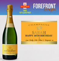 Personalised Champagne bottle label, Perfect Birthday/Celebration Gift/Suprise