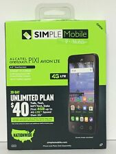 Simple Mobile📱Alcatel☝️OneTouch Pixi Avion 4G LTE PrePaid Unlimited NationWide