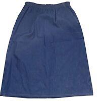 Haband Woman's Vintage Denim Skirt Midi Size 12
