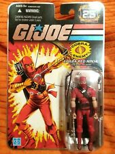 "Gi Joe 2008 25th anniversary COBRA RED NINJA  3.75"" figure"