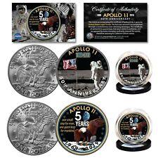 APOLLO 11 50th Anniversary Man on Moon Genuine IKE Eisenhower Dollar 2-Coin Set