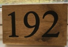 Personalised Oak House Sign, Outdoor Wooden Name Plaque