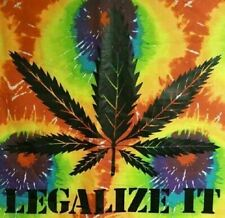 Tie Dye Tapestry LEGALIZE IT 40X45 Fabric Wall Hanging TD59