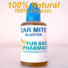 100% NATURAL. 100% ORGANIC EAR MITE BLASTER DOGS CATS HORSES RABBITS OIL