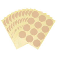 Self Adhesive Creative Packaging Seals Blank Tag Paper Sticky Labels Stickers