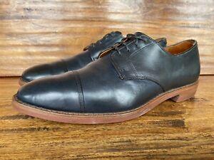 """Allen Edmonds Mens """"Oak Street"""" Oxford Shoes Navy Blue Leather Lace Up Size 11 D"""