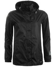 $242 Gelert Men Black Packable Waterproof Full Zip Hooded Rain Coat Jacket 6 Xxs