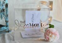 Personalized Wedding Card Box, Acrylic Card Box, Wedding Money Box, Inc Lid