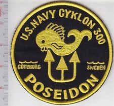 SCUBA Diving Sweden Poseidon US Navy Cyklon 300 Regulator Patch Goteborg Sweden