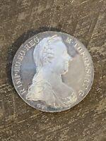 1780 Maria Theresa Thaler .833 Silver Restrike Coin BU