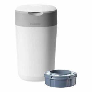 Tommee Tippee Twist & Click Nappy Disposal Unit - Cotton White