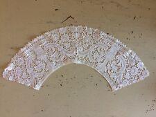 Victorian Flounced Collar Shawl Brussels Lace Cutwork Unworn Dowry Pristine 1840