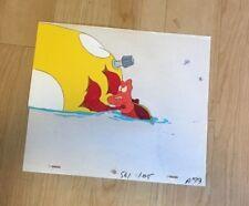 Disney The Little Mermaid Production Cel '' Sebastian'' W/ Pencil Drawing