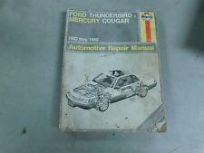 1983 - 1988 FORD THUNDERBIRD MERCURY COUGAR HAYNES FACTORY SHOP SERVICE MANUAL