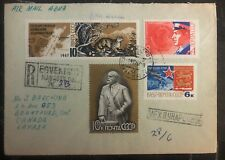 1968 Egvekinot Russia USSR Registered Airmail Cover To Branford Canada