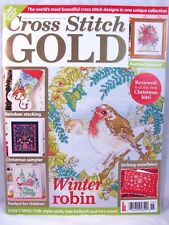 UK Cross Stitch Gold Magazine February 2015 Issue 46 Christmas Stocking Winter