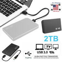 "USB 3.0 2TB External Hard Drive Portable Desktop Laptop Hard Disk 2.5"" HDD USA"