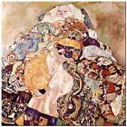 "Stunning Classic Art ~ New Born Baby by Gustav Klimt ~ CANVAS PRINT 24x24"""