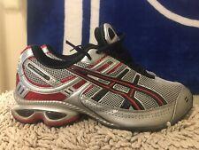 ASICS Gel Frantic 3, TN8E0, Men's Running Shoes, Silver / Red, Size 10.5 Shox