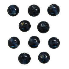 Blu scuro trasparente 10mm perline di vetro circolare CONFEZIONE DA 10 (N76/6)