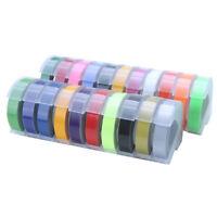 Farbig 9mmx3M Für Dymo Prägeband Letratag Band Kassette Etiketten Selbstklebend