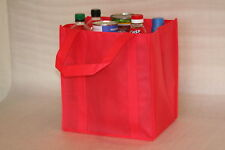 RED NON WOVEN TOTE/SHOPPER BAG -WITH REINFORCED BOTTOM 30*30*22