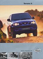 Nissan Terrano II Prospekt 2/00 span brochure 2000 Auto Autoprospekt Broschüre