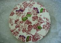 ALFRED MEAKIN Burgundy Floral/Leaves Plate - Made in Staffordshire England