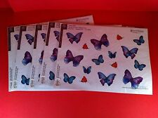 "LAPTOP BUTTERFLIES SKIN DECAL REMOVABLE DECOR FIT 15""-17"" BUTTERFLY STICKER TRIM"